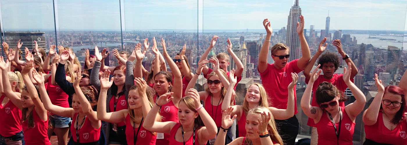 On the Top of the Rock at Rockefeller Plaza